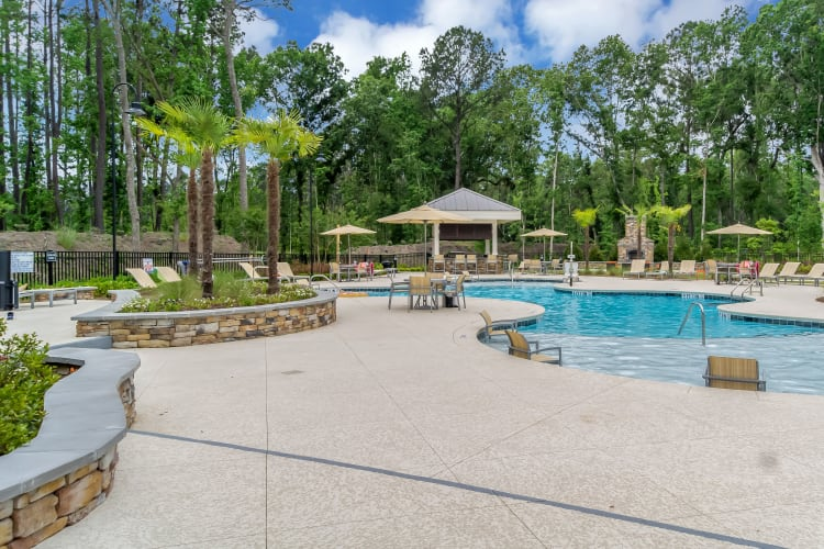 Stunning pool area at Lullwater at Blair Stone in Tallahassee, Florida