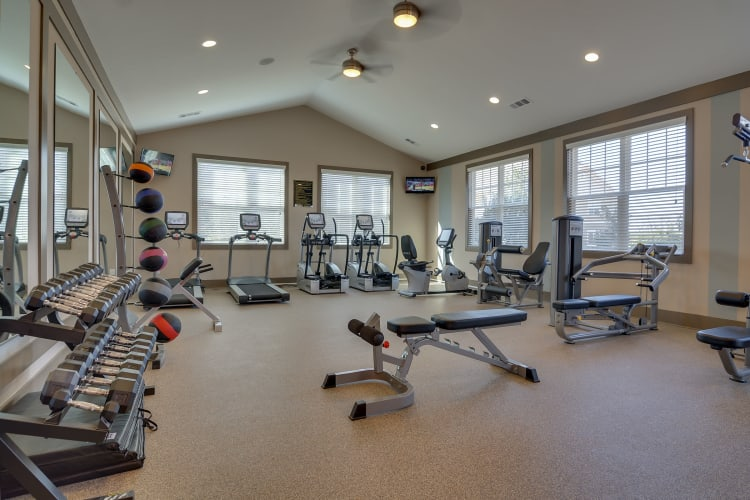 Fitness center at Lullwater at Riverwood in Evans, Georgia