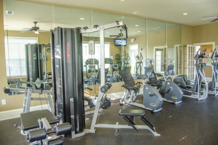 Fitness center at Lullwater at Saluda Pointe in Lexington, South Carolina