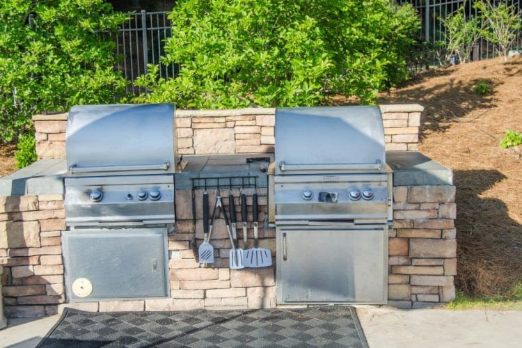 Grill station at Lullwater at Saluda Pointe in Lexington, South Carolina