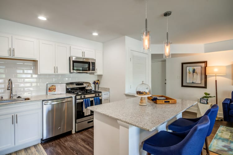 Kitchen model at Watergate Pointe in Annapolis, Maryland
