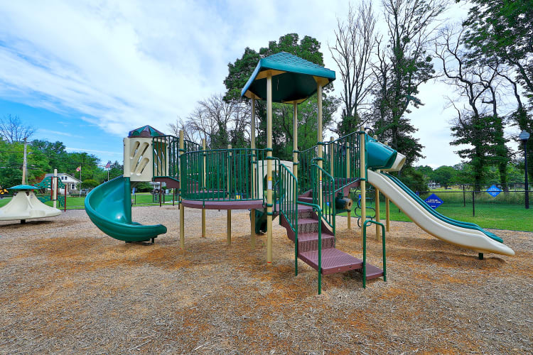 Unique playground at Gwynnbrook Townhomes in Baltimore, Maryland