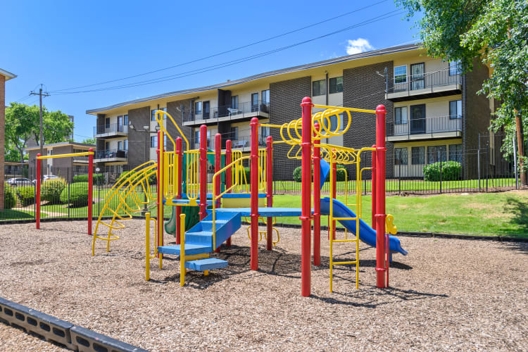 Colorful playground for children at Capital Crossing in Suitland, Maryland