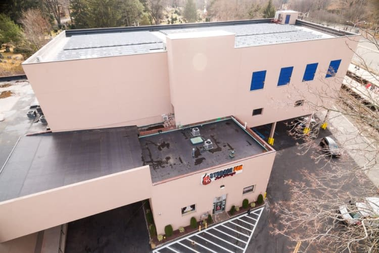 Aerial view of Clutter Self-Storage in White Plains, New York