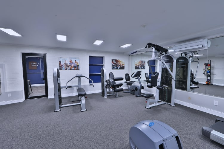 Fitness center at The Reserve at Greenspring has all of the equipment you need in Baltimore, MD
