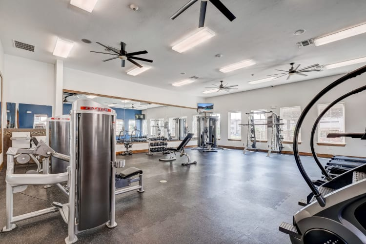 Gym at Overlook Ranch in Fort Worth, Texas
