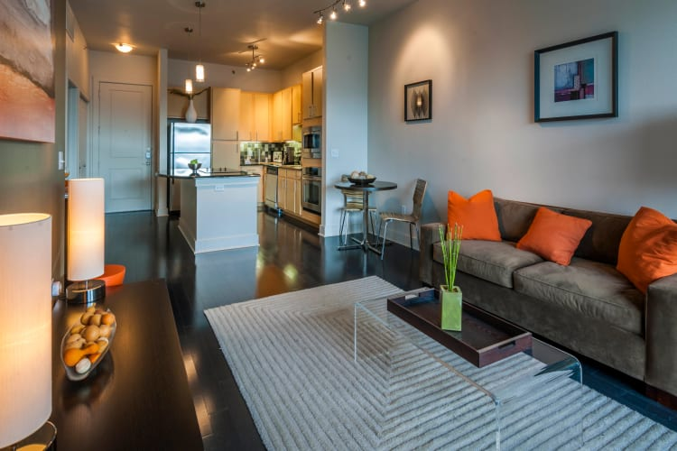 Open floor plans at Residences at the Triangle in Austin, Texas