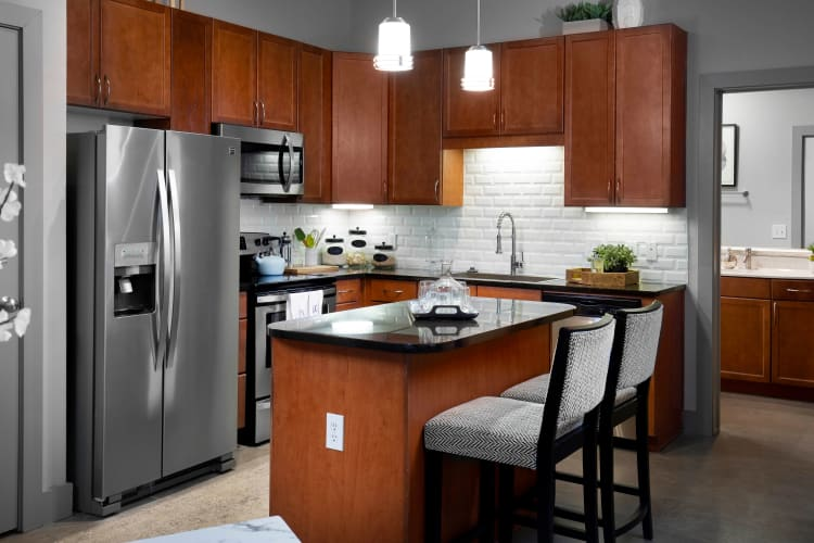 Beautifully appointed kitchen at Residences at the Triangle in Austin, Texas