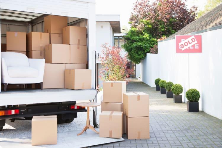 Items being prepared for storage at Storage Star Ben White in Austin, Texas
