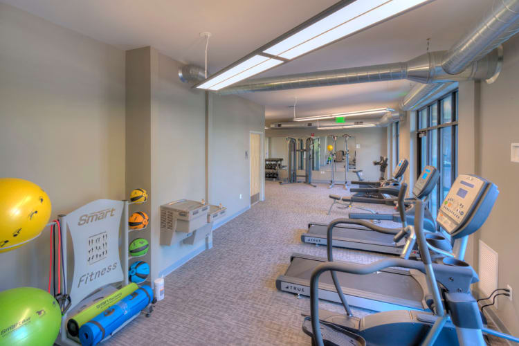 state-of-the-art fitness facility at The Marquette in Milford, Michigan.