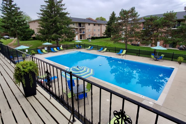 Swimming pool with sundeck at Beech Meadow in Beech Grove, Indiana