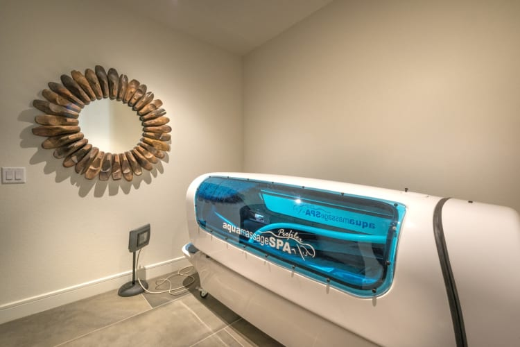 Onsite tanning bed at Mercantile River District in Fort Worth, Texas