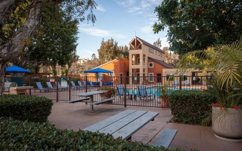 Entrance to the pool area at Terra Nova Villas in Chula Vista, California