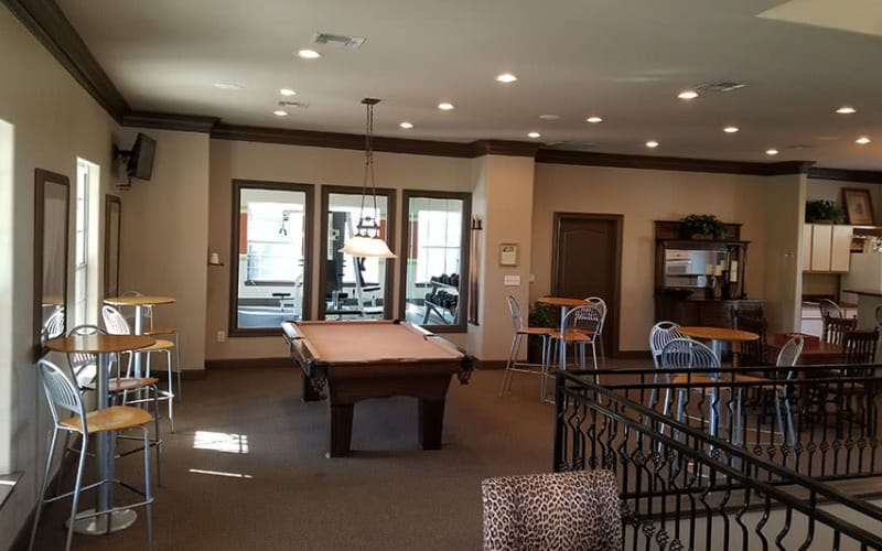 Great pool table at Trails at Eldridge Parkway in Jersey Village