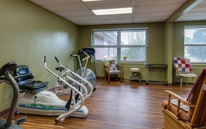 The exercising room at Hilltop Manor in Cunningham, Kansas