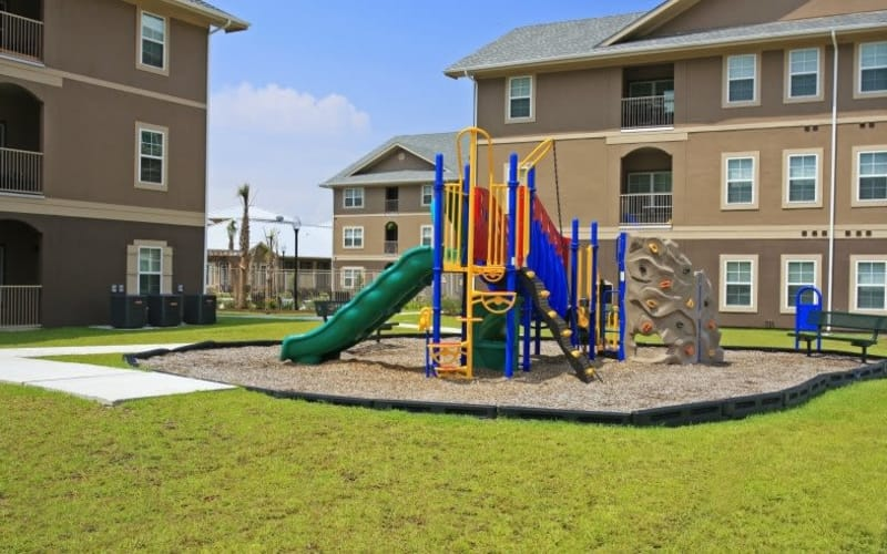 North Shore Apartment Homes offers a playground area in Slidell, Louisiana