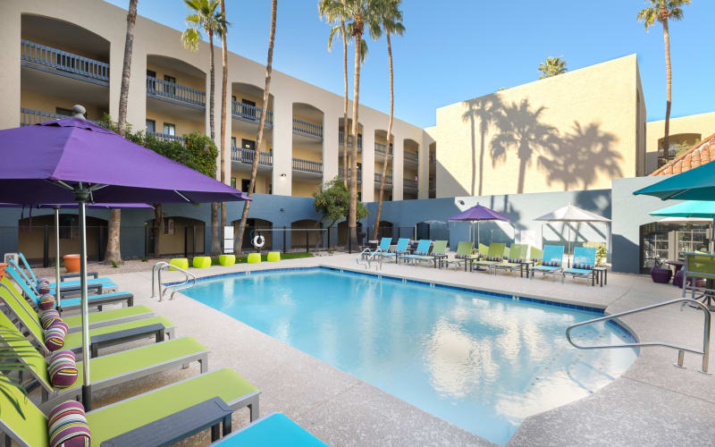 Sparkling swimming pool at 4127 Arcadia in Phoenix, Arizona