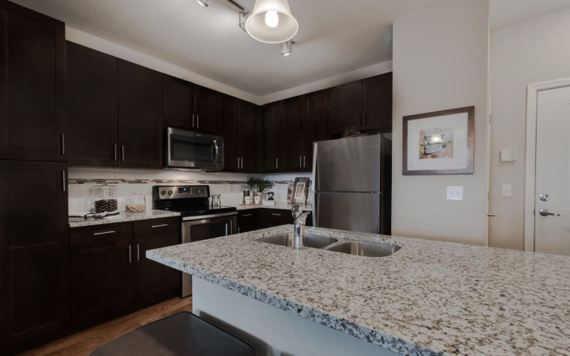 Bright kitchen at Integra Lakes in Casselberry, Florida