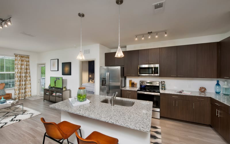 Bright kitchen at Linden Crossroads in Orlando, Florida