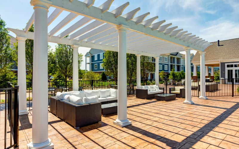 Outdoor poolside lounge at Northgate Crossing in Wheeling, Illinois