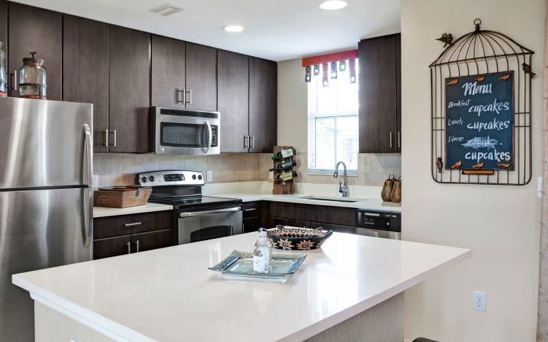 Bright kitchen at City Center on 7th Apartment Homes in Pembroke Pines, Florida