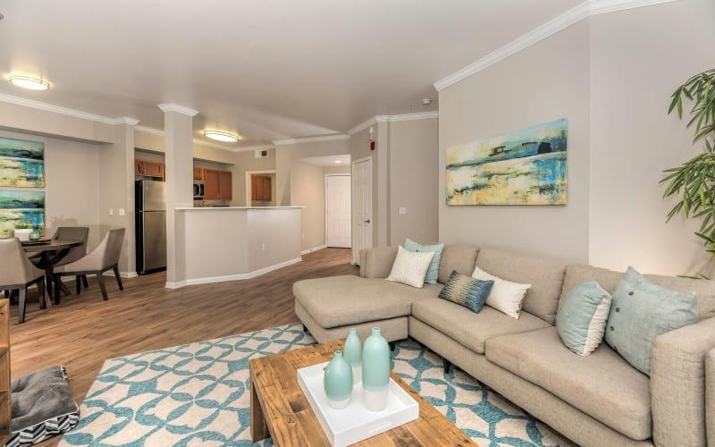Model living room at Avion Apartments in Rancho Cordova, California
