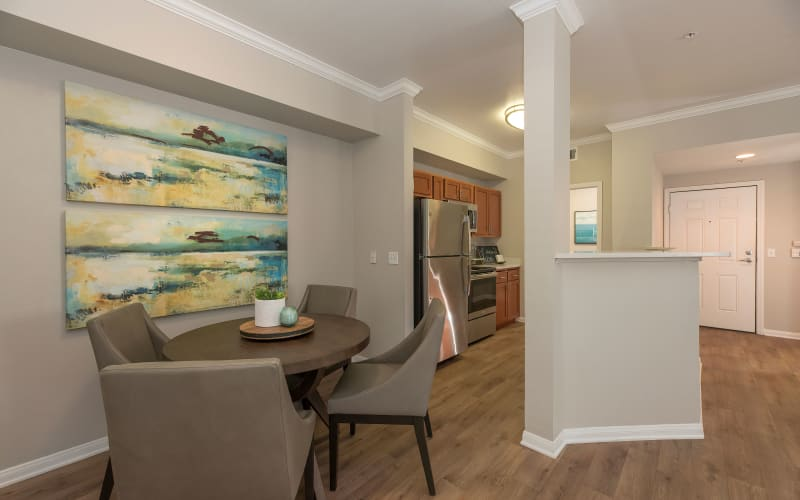 Spacious and bright dining room and kitchen at Avion Apartments in Rancho Cordova, California