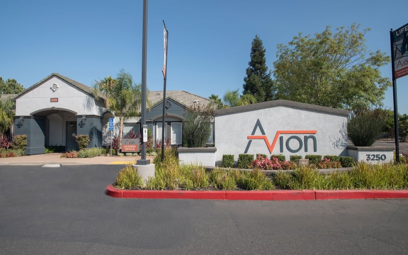 The property and surrounding area at Avion Apartments in Rancho Cordova, California