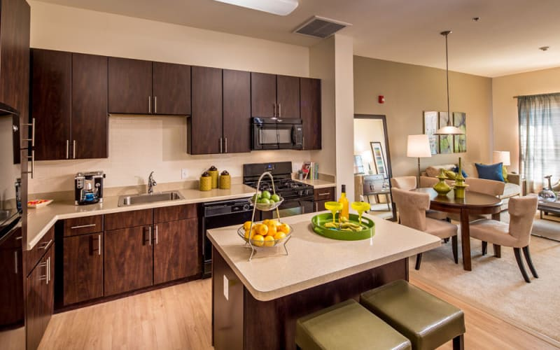 Bright kitchen at The Grove Somerset in Somerset, New Jersey
