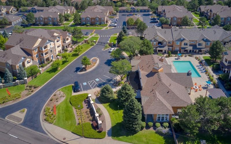Aerial View of Crestone Apartments in Aurora, Colorado