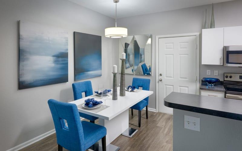 Spacious dining room at Crestone Apartments in Aurora, Colorado