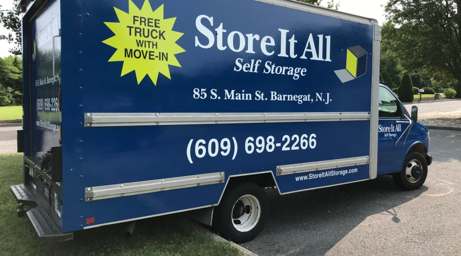 Moving truck available at Store It All Self Storage - Barnegat in Barnegat, New Jersey