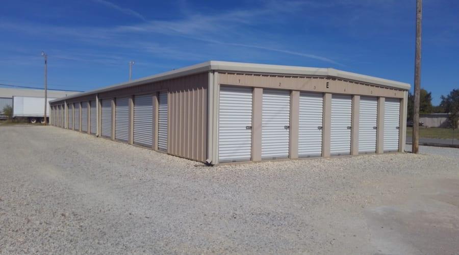 Outdoor storage units at KO Storage of Hutchinson in Hutchinson, Kansas
