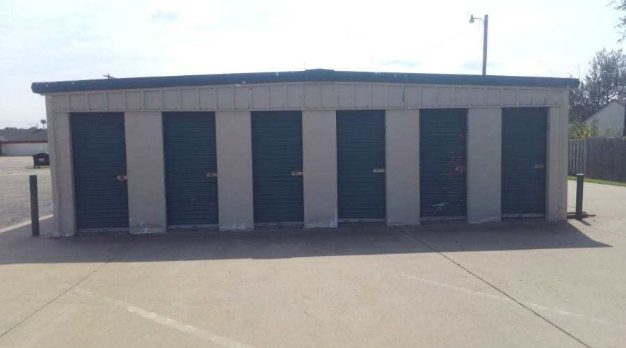 Exterior of outdoor units at KO Storage of Salina - Beverly in Salina, Kansas