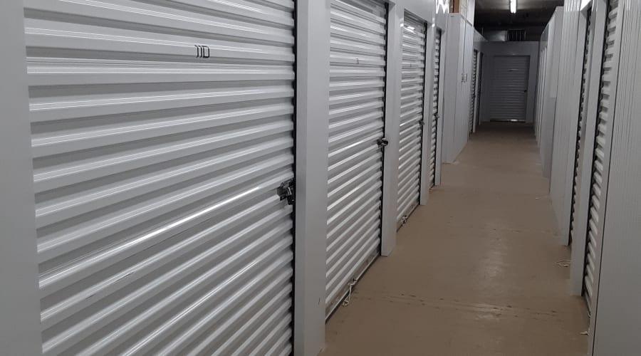 Interior climate-controlled units at KO Storage of Owatonna Climate Controlled in Owatonna, Minnesota