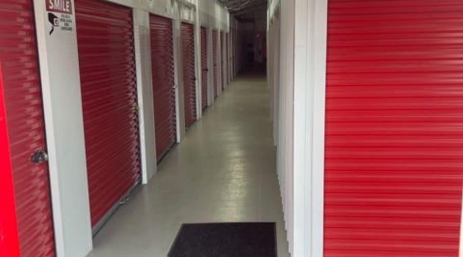 The interior storage units at KO Storage of Jamestown - North in Jamestown, North Dakota