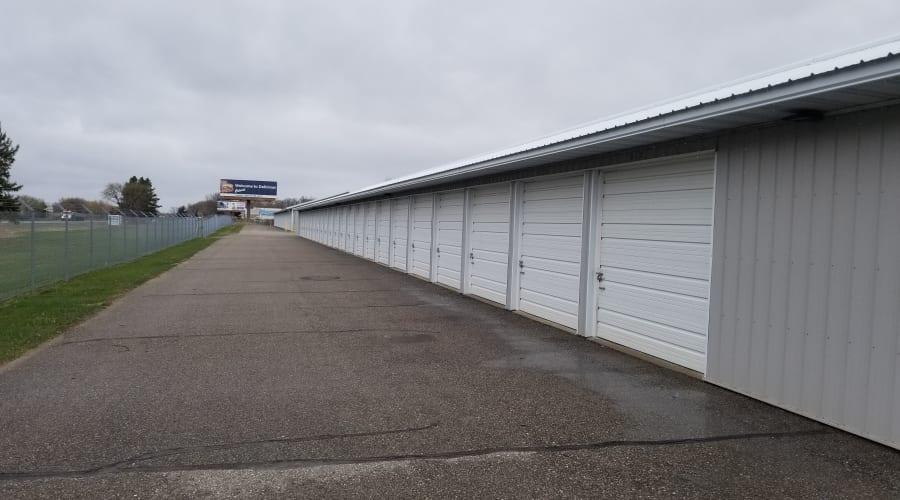 The drive up storage units at KO Storage of Buffalo in Buffalo, Minnesota