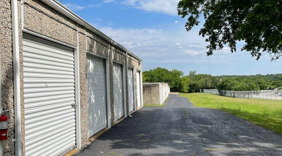 The drive up storage units at KO Storage of Weatherford - Eureka in Weatherford, Texas