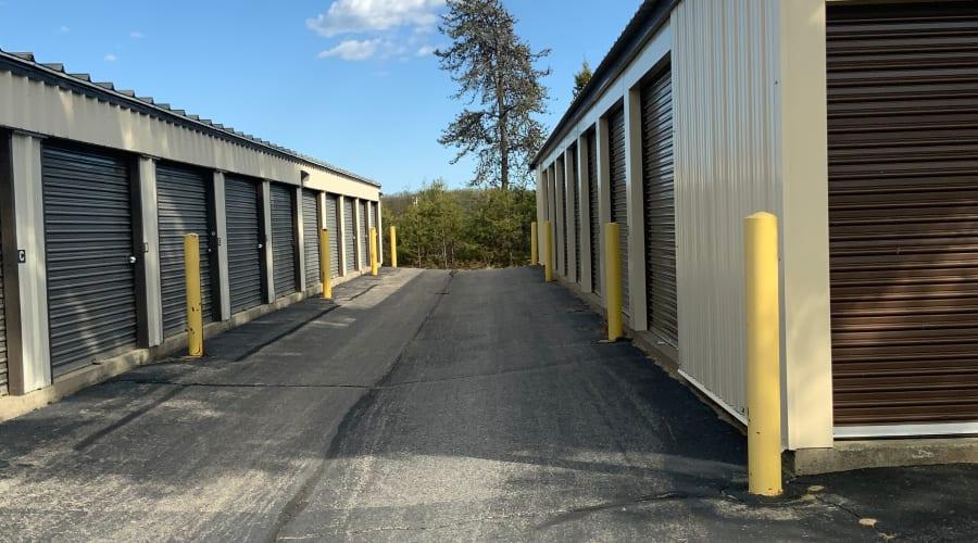 Exterior of outdoor units at KO Storage of Sanford in Sanford, Maine