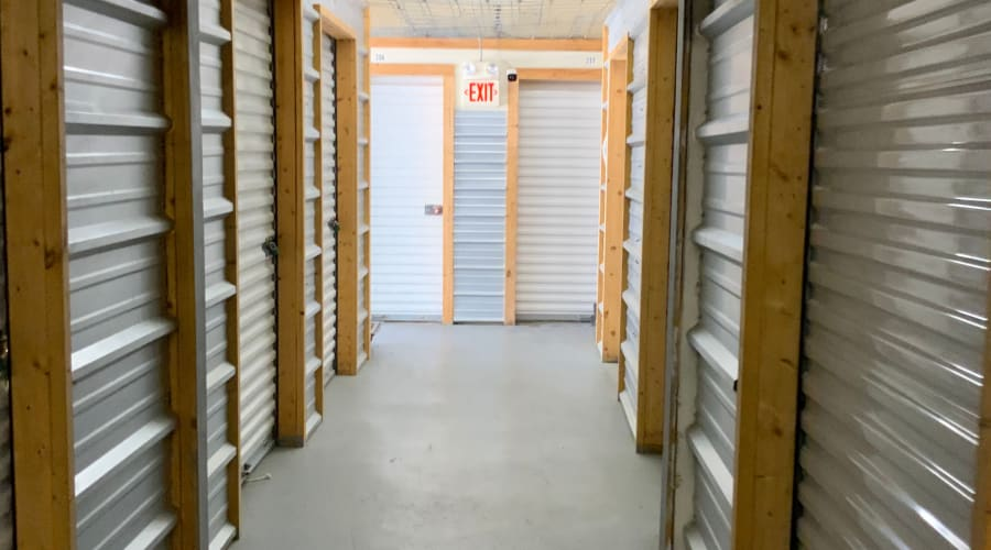 A storage unit filled with boxes at KO Storage of Paragould - Kings Hwy in Paragould, Arkansas