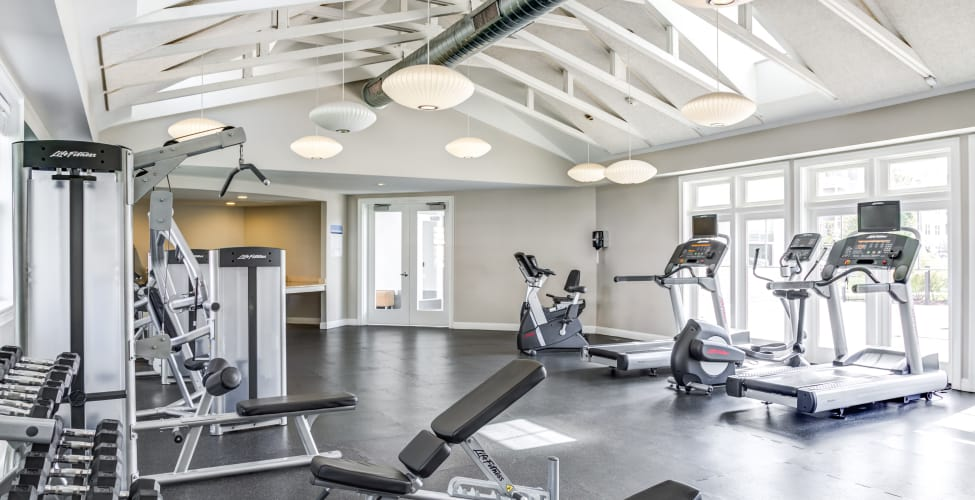 Stay healthy in our well equipped fitness center at Rosemont Square Apartments