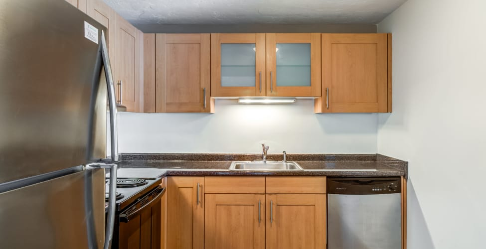 Nice clean kitchen in our Randolph, MA apartments