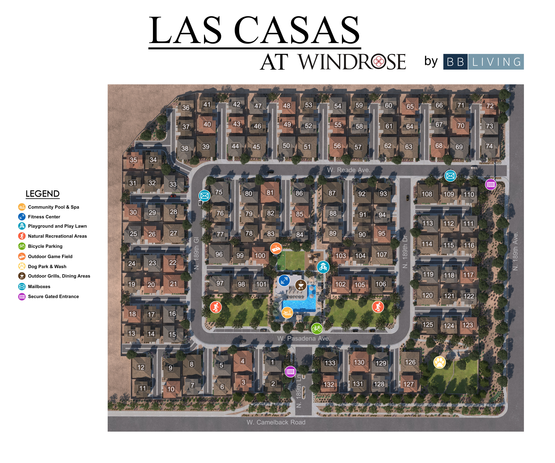 Las Casas at Windrose site plan