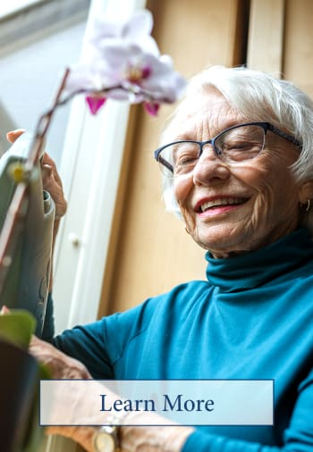 click to learn more about assisted living at The Claiborne at Brickyard Crossing