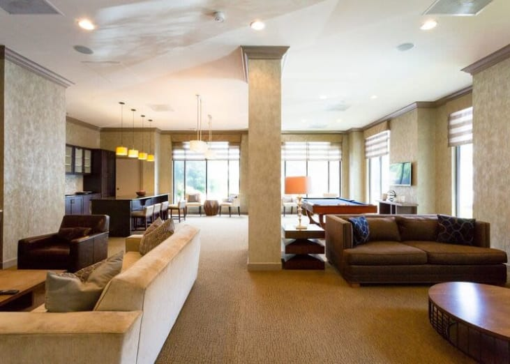 The lounge area will delight you with it's charm and uplifting yellow accents at The Eva