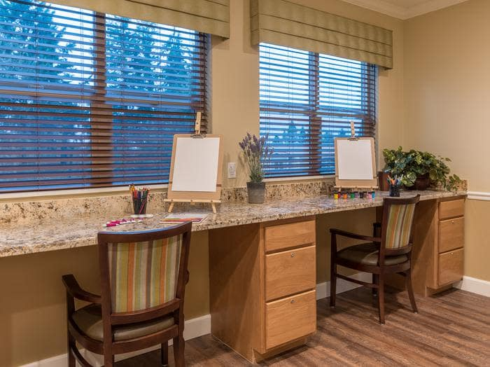 Activity room at Pacifica Senior Living Vancouver in Vancouver, WA