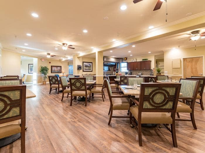 Pacifica Senior Living Vancouver offers a dining area in Vancouver, WA