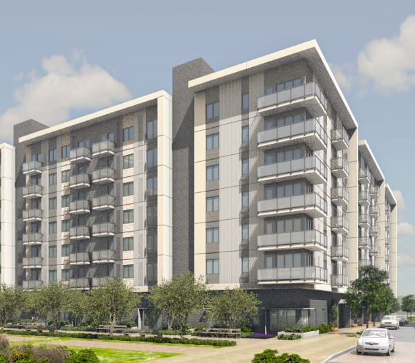 A rendering of The Columbia at the Waterfront in Vancouver, Washington