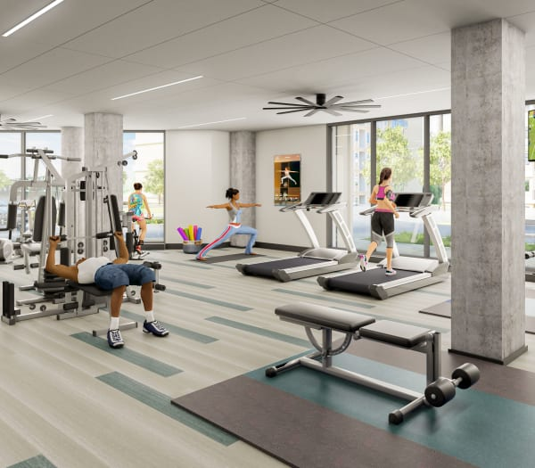 Rendering of Brand New Fitness Center at The Columbia at the Waterfront in Vancouver, Washington