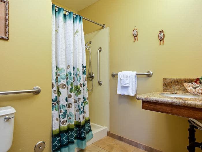 Spacious bathroom at Pacifica Senior Living Tucson in Tucson, AZ